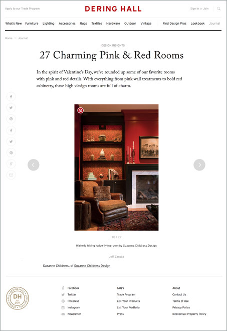 Suzanne Childress Design Dering Hall 27 Charming Pink & Red Rooms