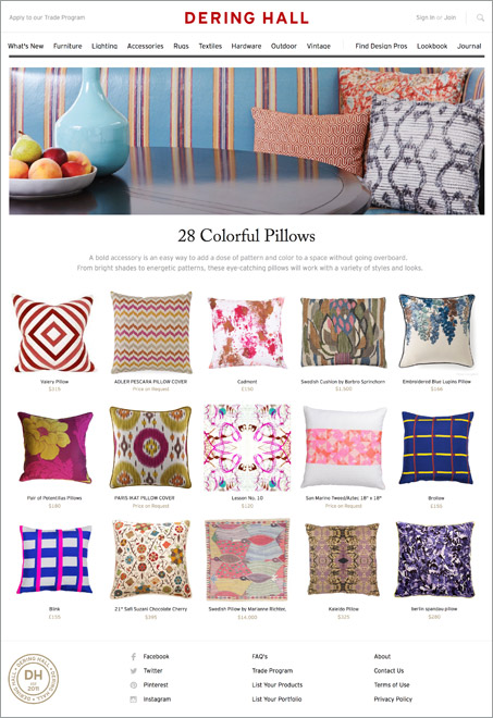 Suzanne Childress Design Dering Hall 28 Colorful Pillows
