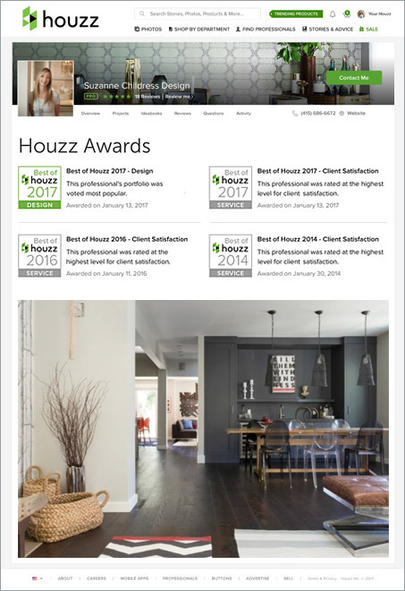 Suzanne Childress Design Houzz Awards